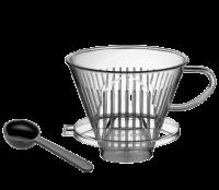 Cilio Koffiefilter Kunststof Transparant Nr.04